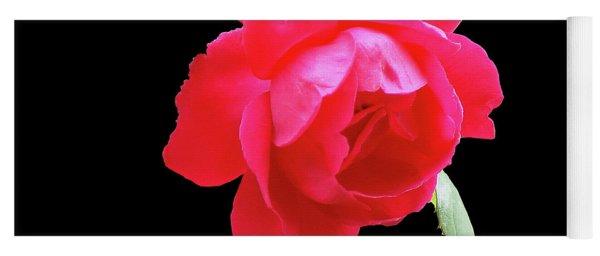 Red Rose Cutout Yoga Mat