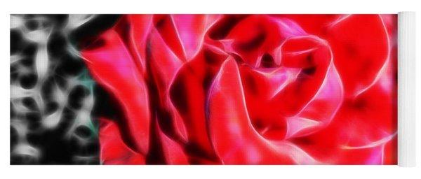 Red Rose Fractal Yoga Mat