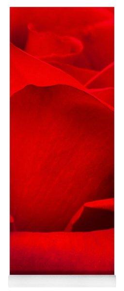 Red Rose Petals Yoga Mat