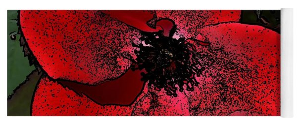 Yoga Mat featuring the photograph Red Rose by Richard Ricci