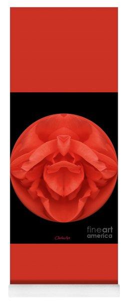 Red Rose Sphere Yoga Mat