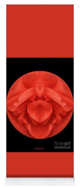 Red Rose Sphere Yoga Mat