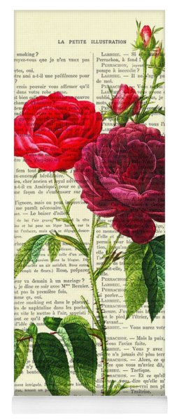 Red Roses For Valentine Yoga Mat