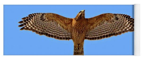 Red-shouldered Hawk Yoga Mat