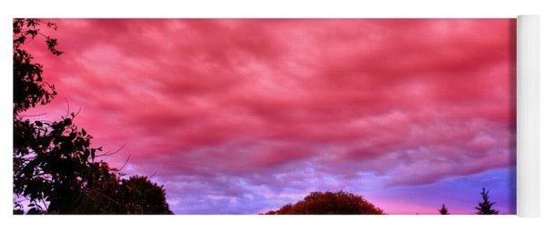 Red Sky At Night Yoga Mat