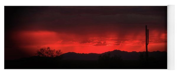 Red Sky At Night Yoga Mat