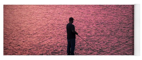 Red Sky Fishing Yoga Mat