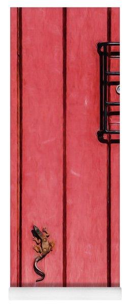 Red Speakeasy Door Yoga Mat