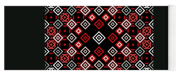 Red Squared Yoga Mat