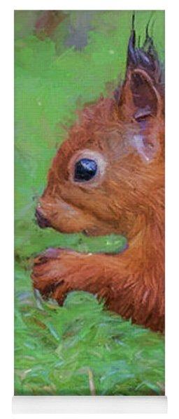 Red Squirrel Profile Yoga Mat