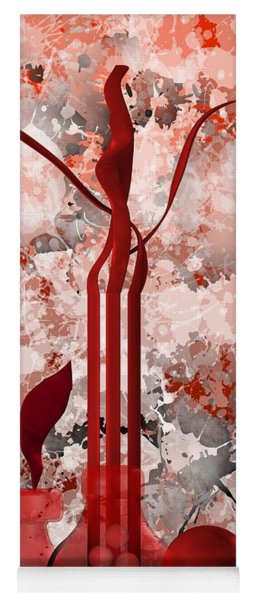 Red Stain Still Life Yoga Mat