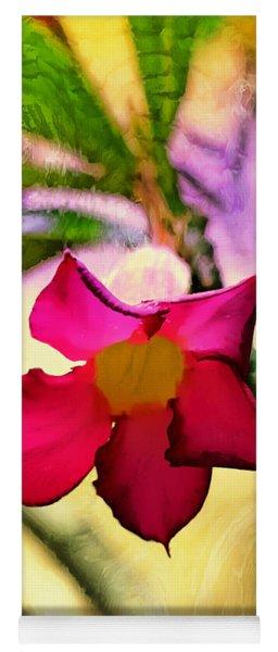 Red Star Flower Yoga Mat