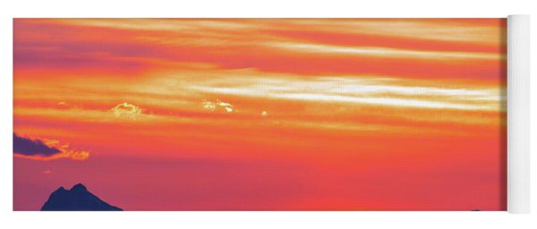 Red Sunrise Yoga Mat