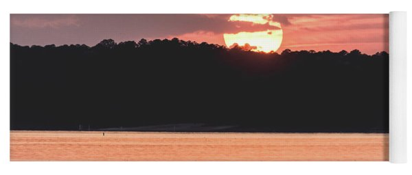 Red Sunset  Yoga Mat