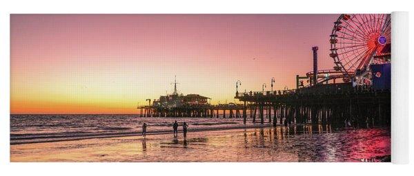 Red Sunset In Santa Monica Yoga Mat