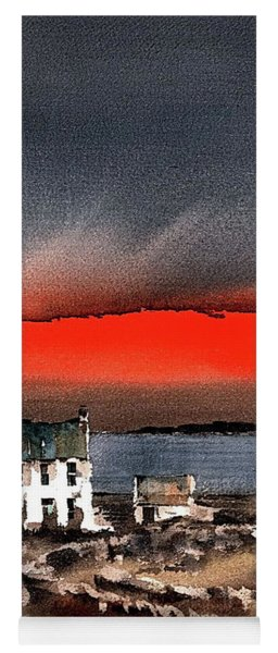 Red Sunset On Bungowla, Aran, Galway Yoga Mat