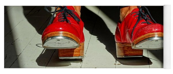 Red Tap Shoes Yoga Mat