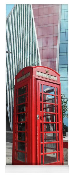 Red Telephone Booth London City Yoga Mat