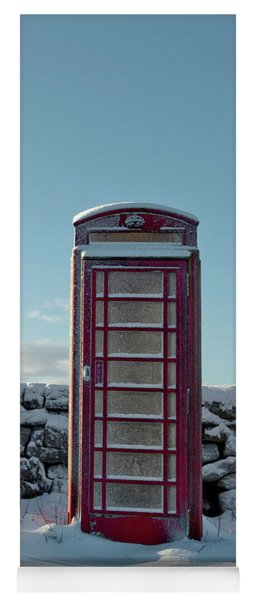 Red Telephone Box In The Snow IIi Yoga Mat