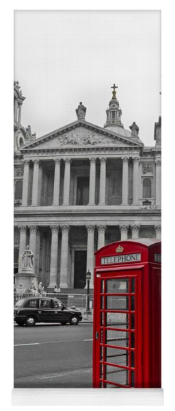 Red Telephone Boxes In London Yoga Mat