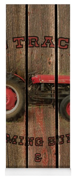 Red Tractor Farming Supply Yoga Mat