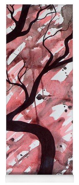 Red Tree Enchantment Yoga Mat