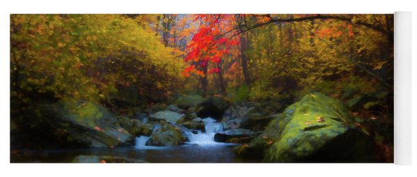 Red Tree In White Oak Canyon Yoga Mat