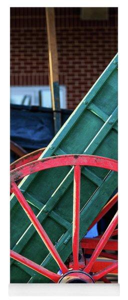 Red Wagon Wheel Yoga Mat