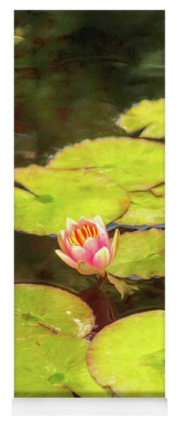 Red Water Lily Yoga Mat