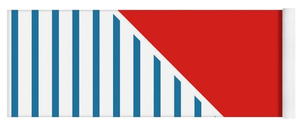 Red White And Blue Triangles 2 Yoga Mat