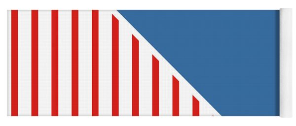 Red White And Blue Triangles Yoga Mat
