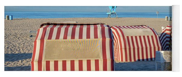 Red White And Sandy Yoga Mat