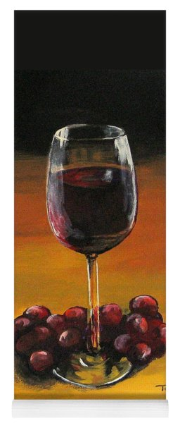 Red Wine And Red Grapes Yoga Mat