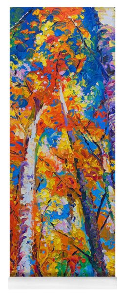 Redemption - Fall Birch And Aspen Yoga Mat