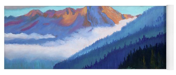 Redfish Lake - Low Clouds Yoga Mat