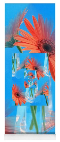 Redundant Gerbera Daisy Yoga Mat