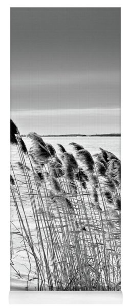 Reeds On A Frozen Lake Yoga Mat