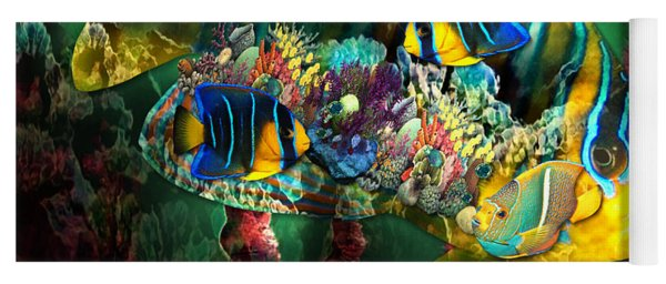 Reef Fish Fantasy Art Yoga Mat