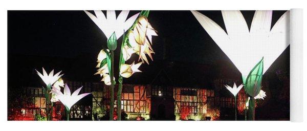 Reflected Glowing Flowers Wisley Yoga Mat