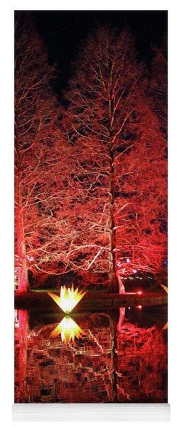Reflected Illuminated Trees Wisley Yoga Mat