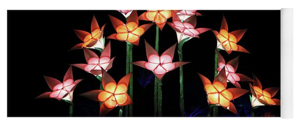 Illuminated Tulips Wisley Yoga Mat