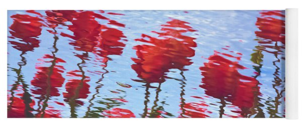 Reflected Tulips Yoga Mat