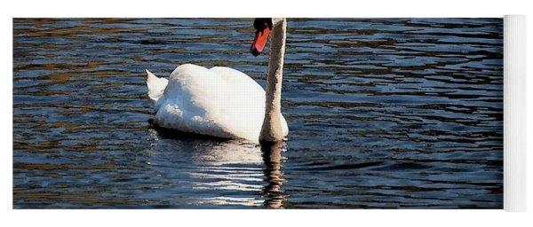 Reflecting Swan Yoga Mat
