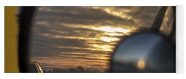 Reflection Of A Sunset Yoga Mat