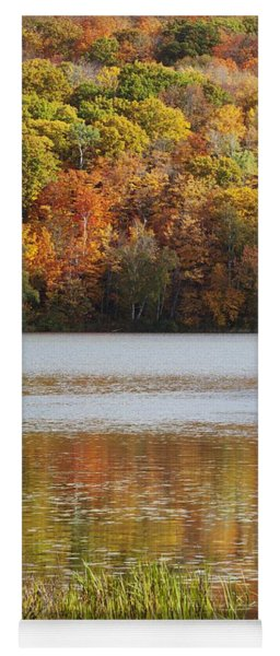 Reflection Of Autumn Colors In A Lake Yoga Mat