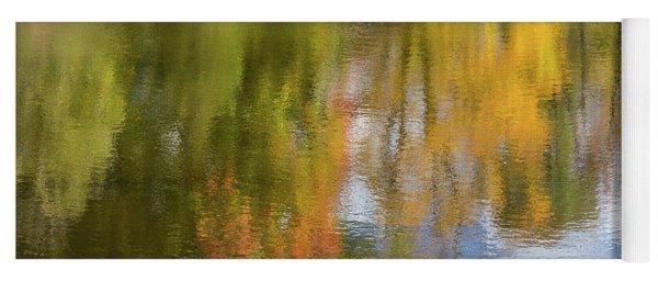 Reflection Of Fall #1, Abstract Yoga Mat