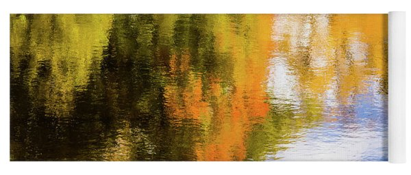 Reflection Of Fall #2, Abstract Yoga Mat