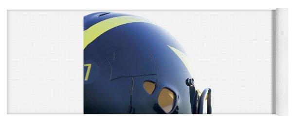 Reflection Of Goal Post In Wolverine Helmet Yoga Mat