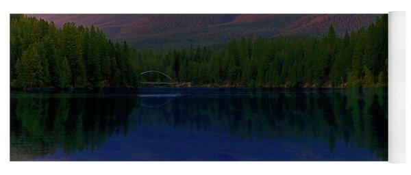 Reflection On California's Lake Siskiyou Yoga Mat