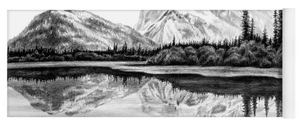 Reflections - Mountain Landscape Print Yoga Mat